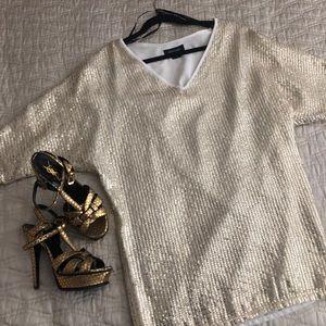 Marciano Mini Gold Dress Size S